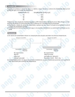 Page 1 1 O cloreto de potássio é solúvel em água e a tabela a