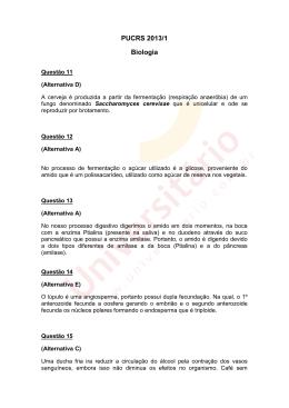 PUCRS 2013/1 | Resolução da Prova de Biologia