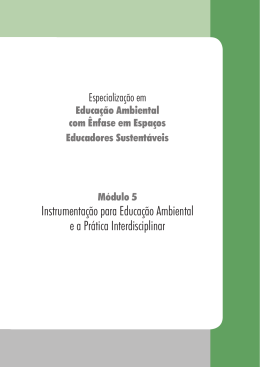 Instrumentação para Educação Ambiental e a Prática Interdisciplinar