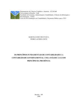 OS PRINCÍPIOS FUNDAMENTAIS DE CONTABILIDADE E A