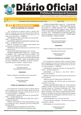 Lei Municipal n° 549 - Prefeitura de Guamaré