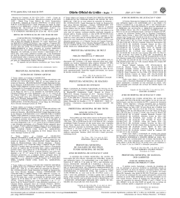 DOU aviso dispensa 0006.2015 - Prefeitura Municipal de Salgado