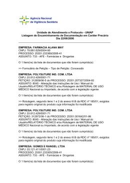 Unidade de Atendimento e Protocolo - UNIAP Listagem de