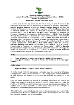 Ministério do Meio Ambiente Instituto Chico Mendes de