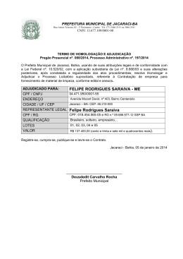 FELIPE RODRIGUES SARAIVA - ME REPRESENTANTE LEGAL