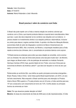 Valor Econômico - Instituto Fernando Henrique Cardoso