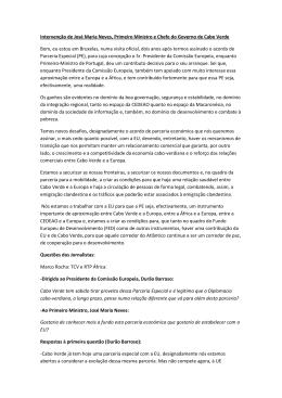 Intervenção de José Maria Neves, Primeiro Ministro e Chefe do