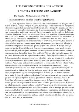REFLEXÕES NA TREZENA DE S. ANTÓNIO