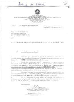 r i Oficio i f /2012-CGCER/DC EBAS/SAS/MS A Sua Senhoria o(a