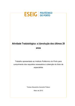 PTE_Teresa Pataco_2015 - Repositório Científico do Instituto