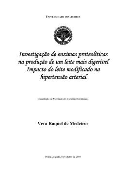 Vera Raquel de Medeiros - Repositório da Universidade dos Açores