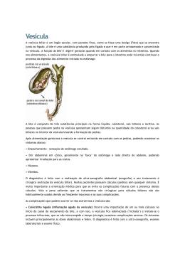 Artigo A vesícula biliar é um órgão sacular, com