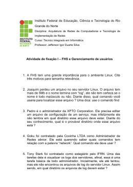 FHS e Gerenciamento de usuários
