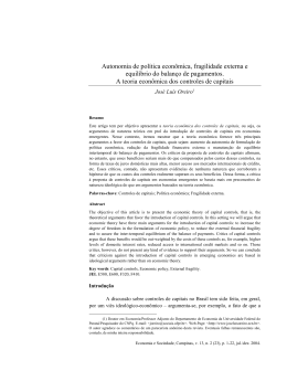 Abstract - Instituto de Economia