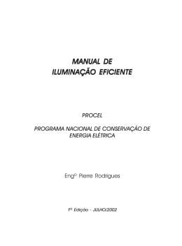 MANUAL DE ILUMINAÇÃO EFICIENTE