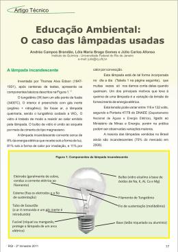 O caso das lâmpadas usadas - Associação Brasileira de Química