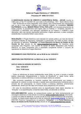 Edital nº. 009A