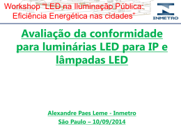 Requisitos mínimos para as lâmpadas LED