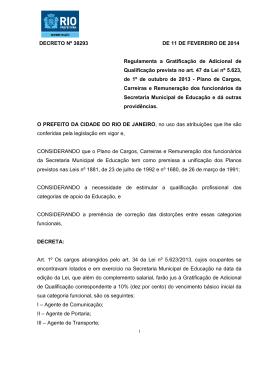 DECRETO Nº 38293 DE 11 DE FEVEREIRO DE 2014 Regulamenta
