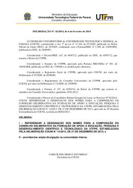 Deliberação 002/2014, de 06 de fevereiro de 2014