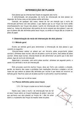 INTERSECÇÃO DE PLANOS - desenho e geometria descritiva b