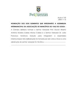 Acta n.º 02 2005.11.16 NOMEAÇÃO DOS DOIS ELEMENTOS QUE