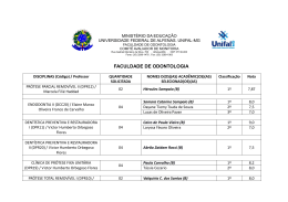 Faculdade de Odontologia (retificado) - Unifal-MG