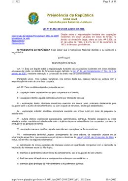 Lei nº - Ministério do Desenvolvimento Agrário