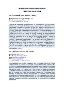 Banca Examinadora Turma 2012-2014 - Membros Externos