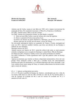 Época normal - Faculdade de Direito | Universidade de Lisboa