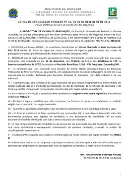 Edital de Convocação PROGRAD 35/2015