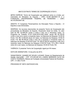 termo de cooperação 07/2013