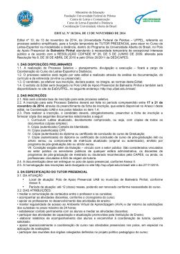 Ministério da Educação Fundação Universidade Federal de