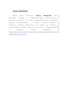 Outras Publicações Monte, Mário Ferreira, Santos, Margarida