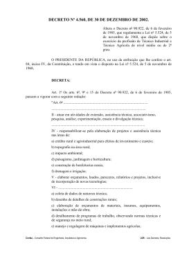 DECRETO Nº 4.560, DE 30 DE DEZEMBRO DE 2002.
