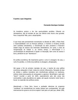 Artigo de Fernando Henrique Cardoso