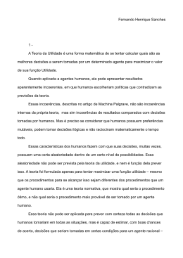 Fernando Henrique Sanches 1 - A Teoria da Utilidade é uma forma
