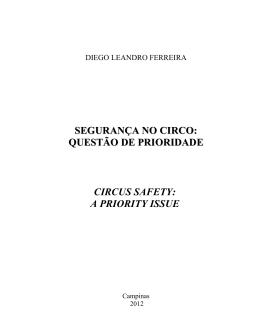 Ferreira, Diego Leandro. Segurança no circo