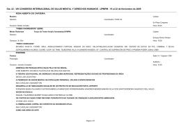 Dia: 22 - VIII CONGRESO INTERNACIONAL DE SALUD MENTAL Y