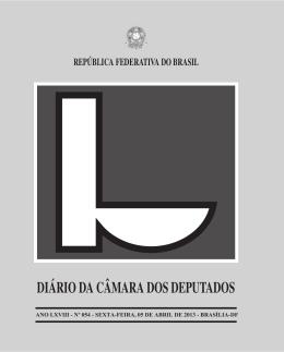 diário da câmara dos deputados república federativa do brasil