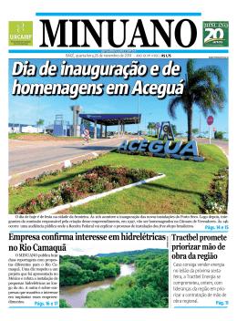 Dia de inauguração e de homenagens em Aceguá