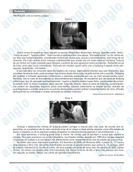 Page 1 1 INSTRUÇÃO: Leia os textos a seguir Texto 1 Quem nunca