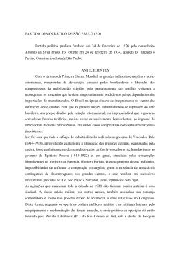 PARTIDO DEMOCRÁTICO DE SÃO PAULO (PD) Partido