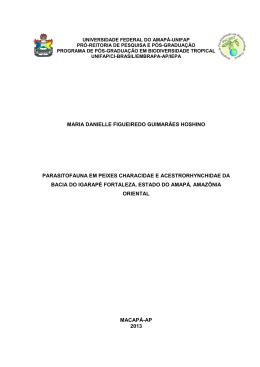 Parasitofauna em peixes Characidae e Acestrorhynchidae da bacia