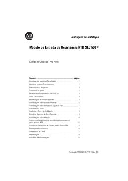 1746-IN012B-PT-P, Módulo de Entrada de Resistência RTD SLC 500