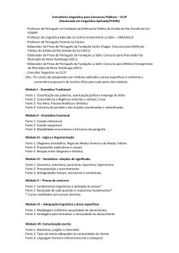 Consultoria Linguística para Concursos Públicos