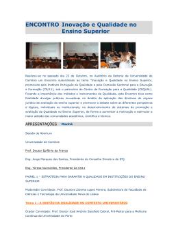 Comunicações - Universidade Aberta