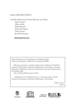 BR/2005/PI/H/23 - Ação Educativa