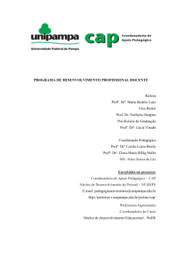 PROGRAMA DE DESENVOLVIMENTO PROFISSIONAL DOCENTE
