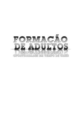 Formação de adultos - Repositório da Universidade dos Açores